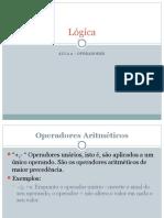 Lógica Aula2 Operadores