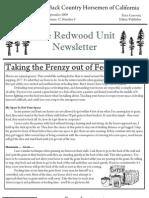 Redwood Unit Newsletter, September 2009 ~ Back Country Horsemen of California