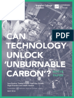 Can Technology Unlock Unburnable Carbon White Paper May 2016