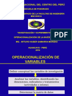 OPERACIONALIZACION DE VARIABLES II