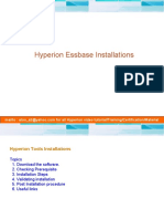 Essbase Installation