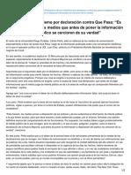 Elmostrador.cl-peña Critica Al Oficialismo Por Declaración Contra Que Pasa Es Peligroso Pedirle a Los Medios Que Ant