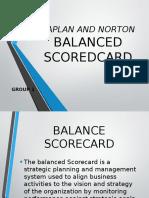 Balance Scorecard report