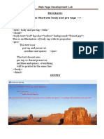 Webdesign LAB (HTML)