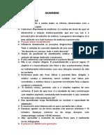 Resumo anamnese em semiologia