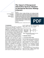 The Impact of Management Information System Adoption in Managerial