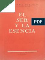 Gilson, Etienne -- El Ser y La Esencia