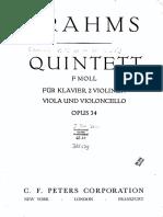 Brahms - Piano Quintet F-minor, Op. 34