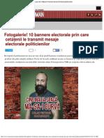 Times New Roman - Fotogalerie! 10 Bannere Electorale Prin Care Cetățenii Le Tra