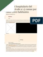 El Déficit Hospitalario Del Perú Equivale a 1