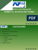 Nociones Generales Sobre El Manejo de Word
