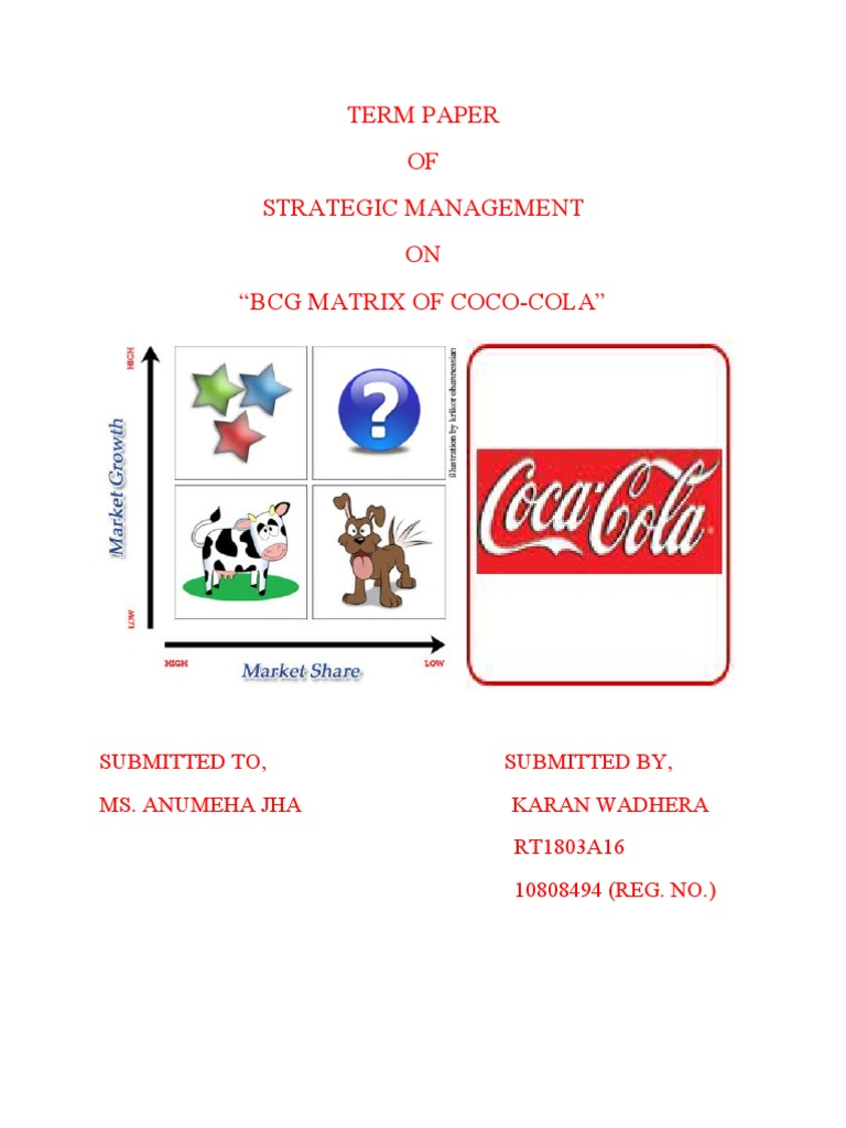 coca cola swot india Coca-cola india: objectives, 4p's, competitor analysis, action plans, market strategies.