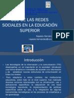 Uso de Las Redes Sociales en La Educacion Superior NH 26-3-15
