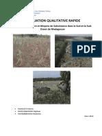 FAO : ORGANISATION DES NATIONS UNIES POUR L'ALIMENTATION ET L'AGRICULTURE, évaluation qualitative rapide, 2016.