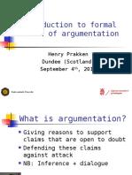 Formal models of argumentation