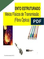 Meios Físicos de Transmissão Fibra Optica