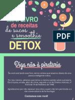 Mini Livro de Receitas de Sucos e Smoothie Detox HIIT Brasil