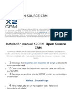 x2crm Open Source Crm