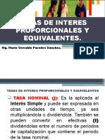 SESION N° 03 - TASAS DE INTERES PROPORCIONALES Y EQUIVALENTES - CONVERSION DE TASAS