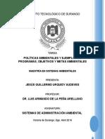 Politicas Ambientales Programas Objetivos y Metas