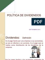 Politica de Dividendos Tema Finanzas.
