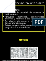 Caracteristicas Del Trabajo en Frio en ciencia de materiales