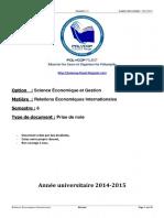 S6 - Relations Economiques Internationales - Résumé