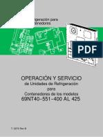 Manual de Operación y Servicio Modelos 69NT40--551--400 AL 4250001