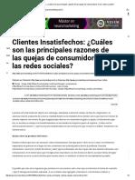Clientes Insatisfechos_ ¿Cuáles Son Las Principales Razones de Las Quejas de Consumidores en Las Redes Sociales