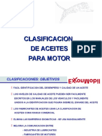 Clasificación de Aceites Para Motor