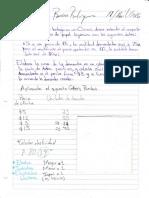Trabajos físicos hechos en el cuaderno