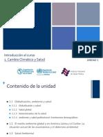 Cambio Climático y Salud -OPS 2015 Mod 1 Unidad 1 Por Horacio Riojas R