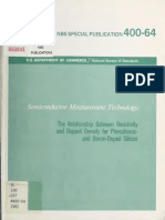 Estudio sobre el nivel de dopaje y la resistividad en semiconductores