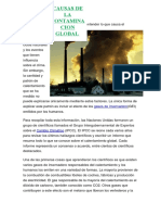 Causa Del Calentamiento Global (1)