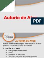 3 Autoria de Atos