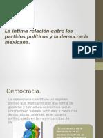 La íntima relación entre los partidos políticos y la democracia mexicana.