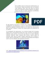 Aplicaciones de La Investigacion de Operaciones en La Ingeniería Industrial
