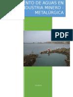 Tratamiento de Aguas en La Industria Minero(Hidraúlica Aplicada)