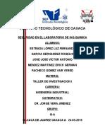 PROTOCOLO DE  INVESTIGACION (seguridad en el laboratorio)