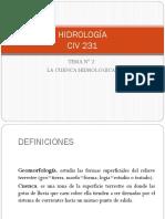 2 Hidrología- La Cuenca Hidrologica
