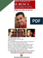 Poster SE BUSCA Sospechoso en primer grado de Homicidio Calificado en Guarulhos