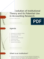 The Evolution of Institutional Theory PACS 25 April Revised (1)