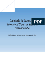 Coeficiente de Suplencia en International Superstar Soccer 64 Del Nintendo 64