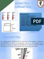 Termometria y Calorimetria