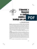 TRAVERSINI, Clarice Salete; BELLO, Samuel Edmundo López - O Numerável, o Mensurável e o Auditável - Estatística Como Tecnologia Para Governar