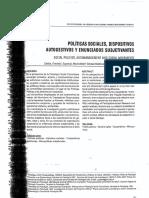 ZALDUA - Politicas Sociales Dispositivos Autogestivos y Enunciados Subjetivantes