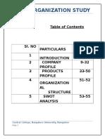 MSIL Organization Study