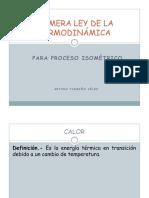 Primera Ley Termodinamica Proceso Isometrico