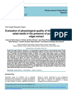 Evaluation of physiological quality of lettuce and rocket salad seeds in the presence of purple nuts edget extract