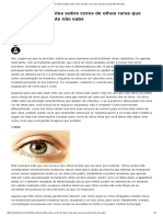 6 Fatos Interessantes Sobre Cores de Olhos Raras Que Você Provavelmente Não Sabe